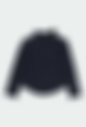 """T-Shirt gestrickt elastisch """"blumen"""" für mädchen"""