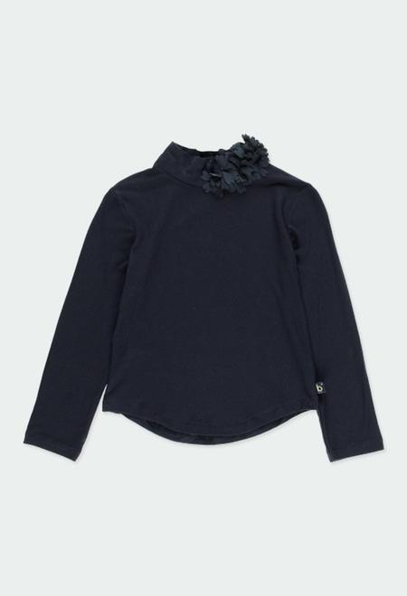 """T-Shirt gestrickt elastisch """"blumen"""" für mädchen_1"""