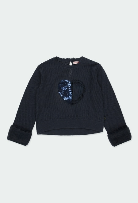 "Knitwear pullover ""heart"" for girl_1"