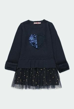 """Vestido tricotosa """"corazón"""" de niña_1"""