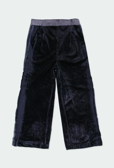 Velour trousers for girl_1