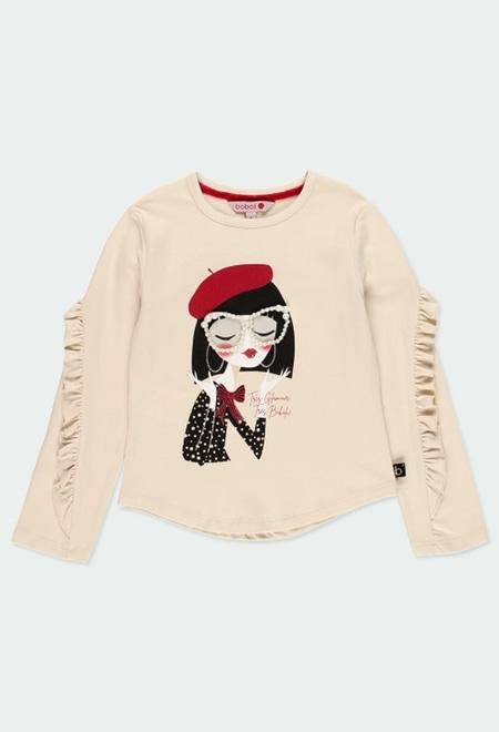"""T-Shirt tricot """"lunettes"""" pour fille_1"""