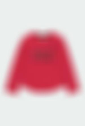 Camiseta punto con perlas de niña