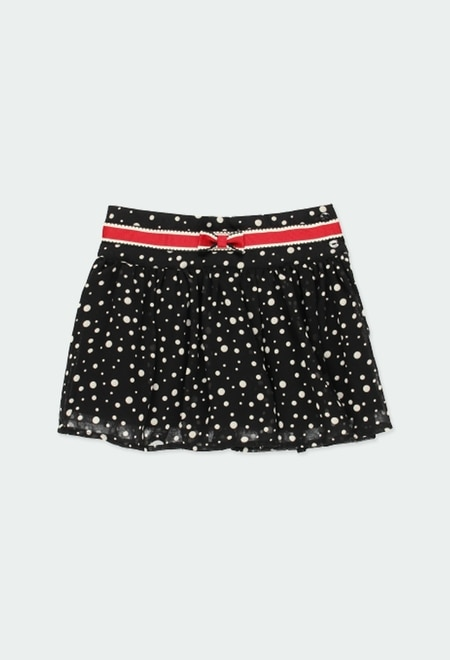 Skirt with gauze polka dot for girl_1