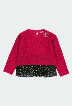 Jersey tricotosa con lazo de niña_1