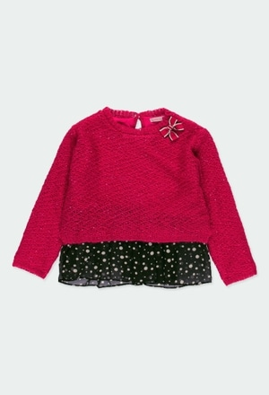 Knitwear pullover for girl_1