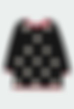 Knitwear dress polka dot for girl