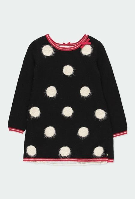 Knitwear dress polka dot for girl_1