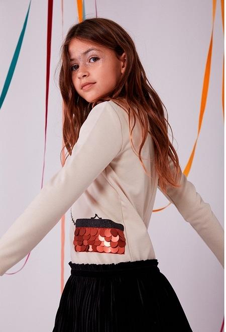 """Knit dress """"handbag"""" for girl_1"""