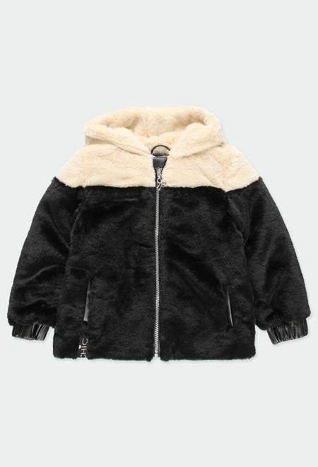 Fluffy hooded jacket for girl_1