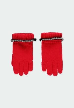 Guantes tricotosa con perlas de niña_1
