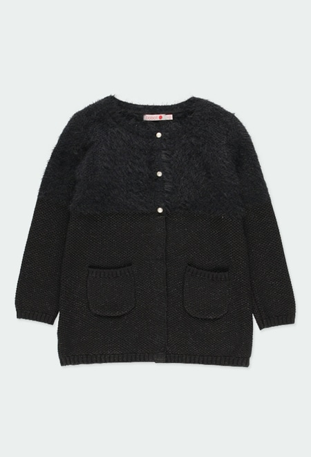 Knitwear jacket for girl_1
