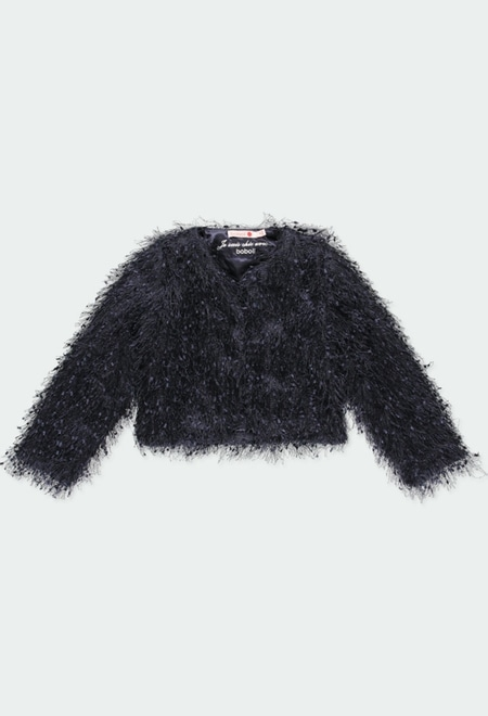 Jacket with fringes for girl_1