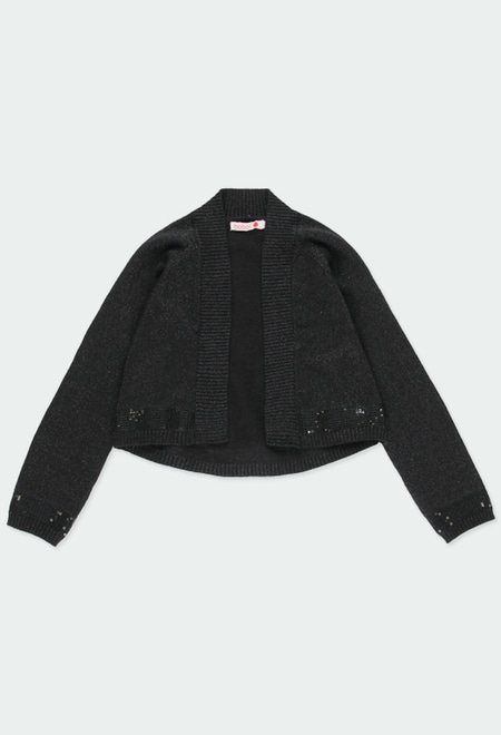 Knitwear jacket for girl_1