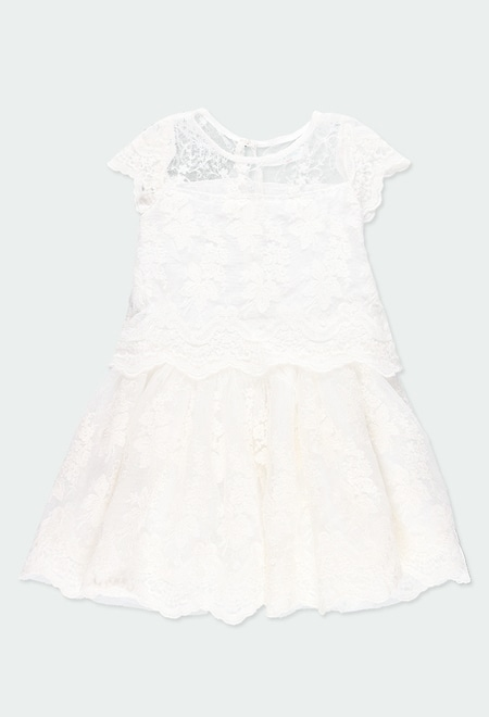 Robe en tulle broderies pour fille_1