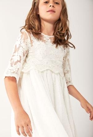 Vestito garza combinato per ragazza_1