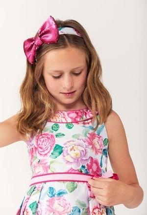 Vestido de tejido mikado de niña_1
