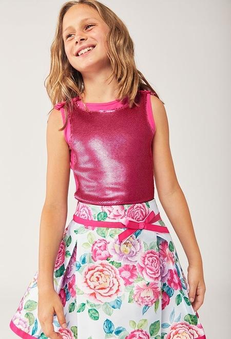 Falda de tejido mikado de niña_1