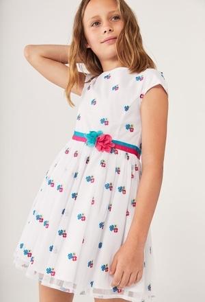 Kleid tüll bestickt für mädchen_1