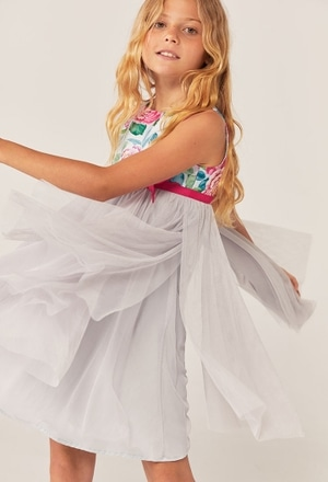 Combined tulle dress for girl_1