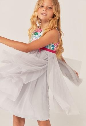 Vestido tule combinado para menina_1