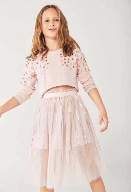 Jersey tricotosa con lentejuelas de niña_1