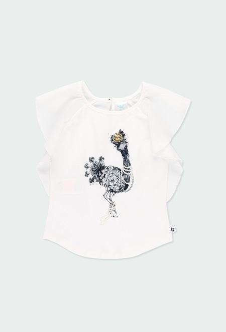 Camiseta punto con volantes de niña_1