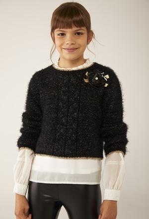 Jersey tricotosa corto de niña_1