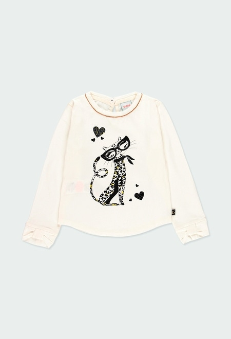 """Camiseta punto elástico """"tigre"""" de niña_1"""