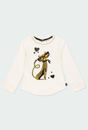 Maglietta jersey elastico per ragazza_1