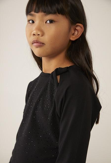 T-Shirt gestrickt kristallen für mädchen_1