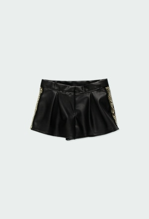 Fake leather shorts for girl_1