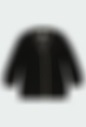 Chaqueta tricotosa larga de niña