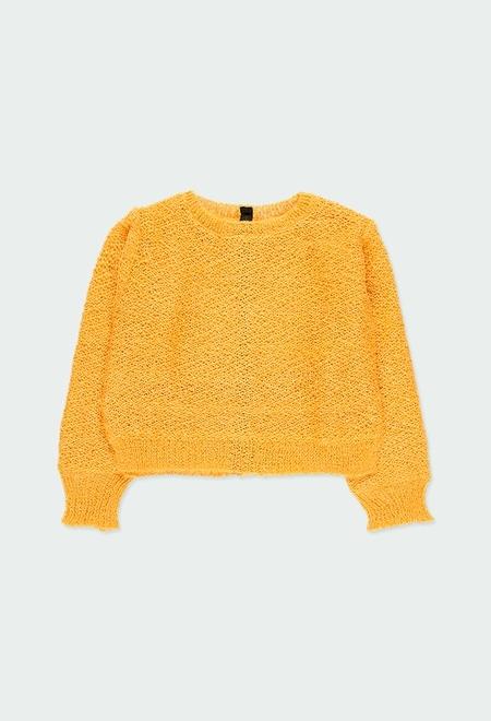 Pullover tricot corações para menina_1