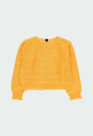 Knitwear pullover hearts for girl_1