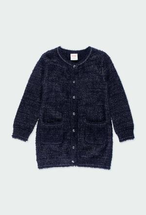 Chaqueta tricotosa larga de niña_1