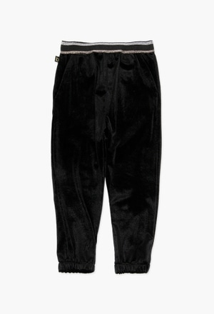 Velour trousers for girl_1