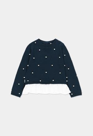 Jersey tricotosa combinado de niña_1