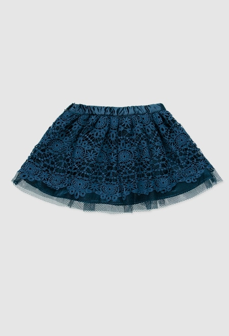 Skirt with guipure for girl_1