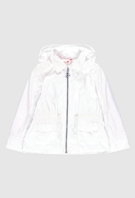 Technical fabric parka for girl_1