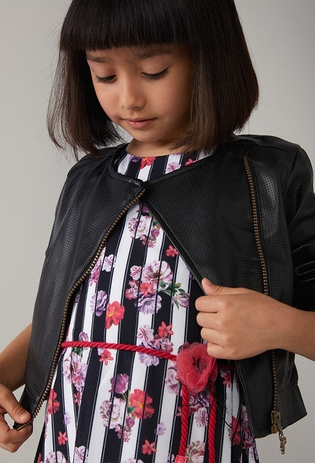 Fake  leather jacket for girl_1