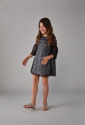 Vestido tul combinado de niña_1