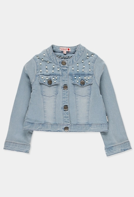 Denim jacket stretch for girl_1