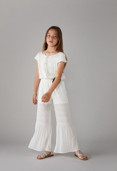 Jumpsuit with gauze for girl_1