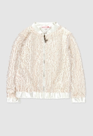 Bomber jacket with tulle for girl_1