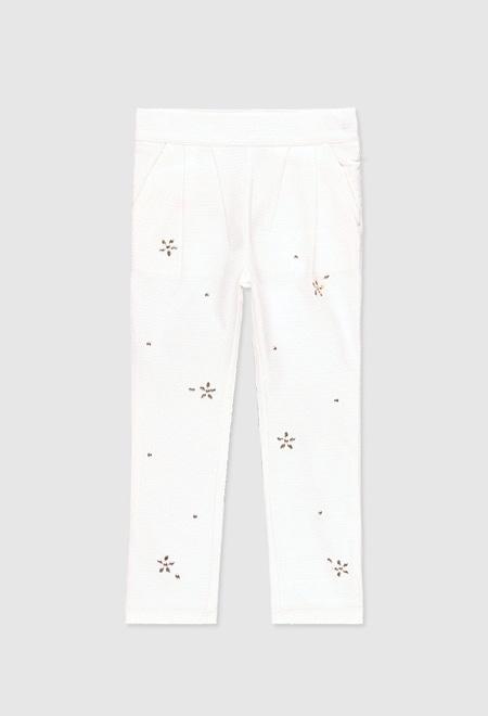 Pantalón de tejido fantasía de niña_1