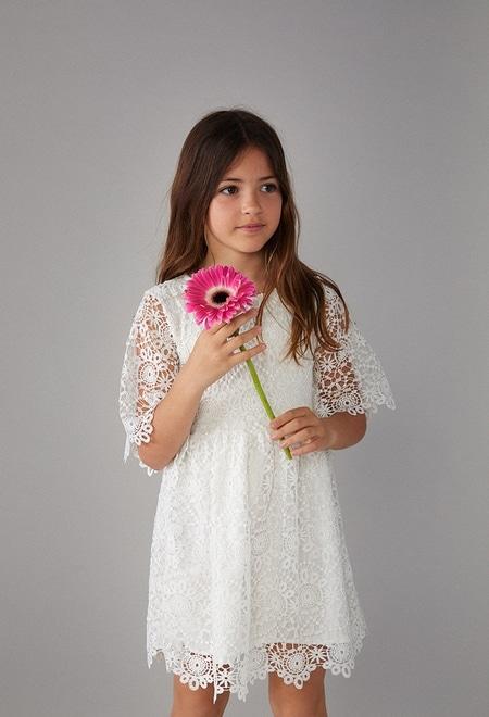 Vestido guipure para menina_1
