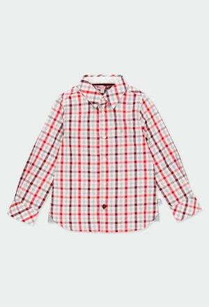 Poplin shirt check for boy_1