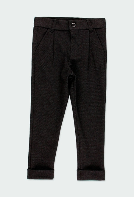 Knit trousers fantasy for boy_1