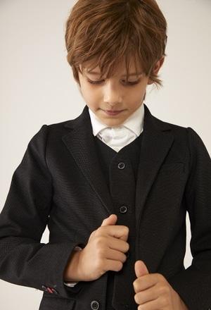 Knit blazer fantasy for boy_1